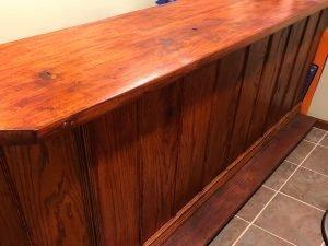 Custom Built Oak Bar