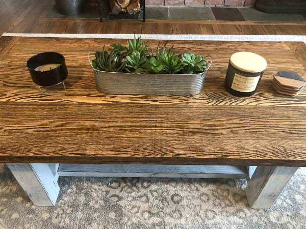 Custom Made Coffee Table Oak and Pine